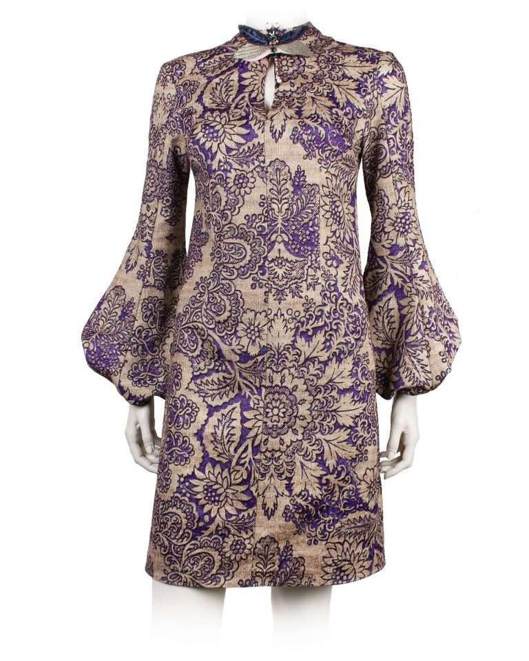 Makeba Dress -Gold Purple